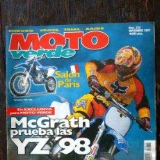 Coches y Motocicletas: REVISTA MOTO VERDE. NÚMERO 232 NOVIEMBRE 1997. Lote 27245722