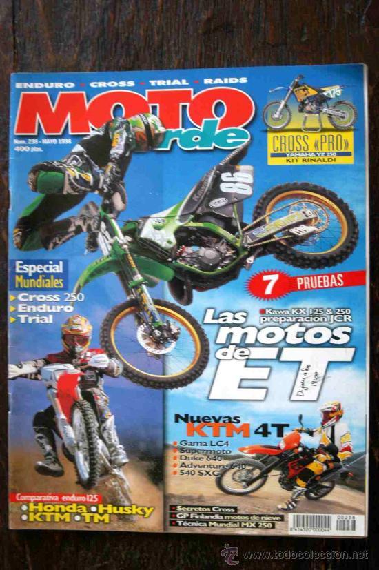 REVISTA MOTO VERDE. NÚMERO 238 MAYO 1998 (Coches y Motocicletas - Revistas de Motos y Motocicletas)