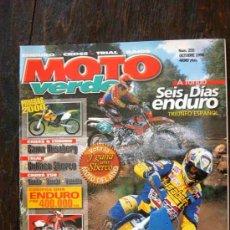 Coches y Motocicletas: REVISTA MOTO VERDE. NÚMERO 255 OCTUBRE 1999. Lote 27278270