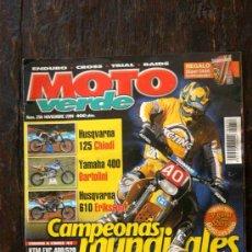 Coches y Motocicletas: REVISTA MOTO VERDE. NÚMERO 256 NOVIEMBRE 1999. Lote 33063512