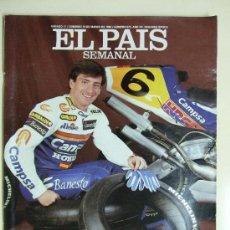 Coches y Motocicletas: EL PAIS SEMANAL - SITO PONS, ALEX CRIVILLE Y OTROS - PILOTOS ESPAÑOLES DE MOTOCICLISMO - MARZO 1990 . Lote 27357642