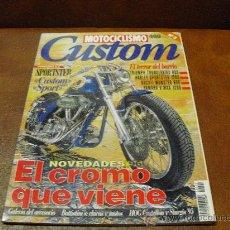 Coches y Motocicletas: REV; MOTOCICLISMO. CUSTOM Nº 3.- NOVEDADES 96 .-EL CROMO QUE VIENE-TRUMPH HARLEY,DUCATI-YAMAHA.-. Lote 26016610