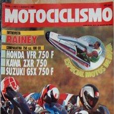 Coches y Motocicletas: MOTOCICLISMO Nº 1223 AGO 1991: HONDA VFR 750F, KAWA ZXR 750, SUZUKI 750F, RAINEY,ESPECIAL MOTOS AGUA. Lote 26016833