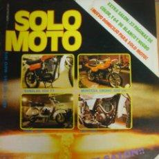 Coches y Motocicletas: REVISTA SOLO MOTO NUMERO 190 MAYO 1979 EXTRA SALON AUTOMOVIL BARCELONA.. Lote 26256747