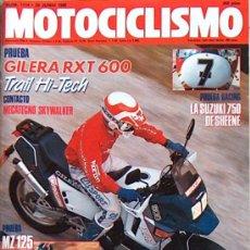 Coches y Motocicletas: MOTOCICLISMO Nº 1114 JUN 1989, MZ 125, GILERA RXT 600, MECATECNO SKYWALKER, SUZUKI 750 SHEENE. Lote 26319094