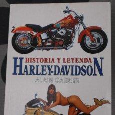 Coches y Motocicletas: LIBRO HISTORIA Y LEYENDA HARLEY - DAVIDSON 1997 128 PAGINAS. Lote 26899027
