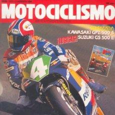 Coches y Motocicletas: MOTOCICLISMO Nº 1171 AGO 1990, YAMAHA R1Z, KAWA GPZ500S, SUZUKI GS500E, ENTREVISTA CARDUS. Lote 26933334