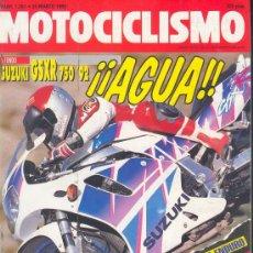 Coches y Motocicletas: MOTOCICLISMO Nº 1257 MAR 1992, SUZUKI GSRX 750 92 AGUA, APRILIA 125 SPORT PRO, ALFER 250 ENDURO, GP. Lote 26933496
