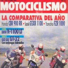 Coches y Motocicletas: MOTOCICLISMO Nº 1259 ABR 1992, SUZUKI GSXR 1100, YAMAHA FZR 1000, HONDA CBR 900RR, BMW K-1100LT, GAS. Lote 99520358