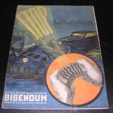Coches y Motocicletas: RIVISTA SEMESTRALE ILLUSTRATA BIBENDUM ANNO XXVII NUM 2 - 1935 - ILUSTRADA. Lote 27237741