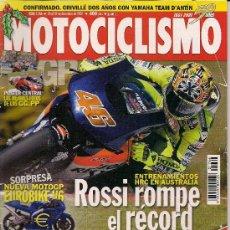 Coches y Motocicletas: MOTOCICLISMO 1766 - DUCATI 998 - HONDA CBR 900 RR - KAWASAKI ZX - 9R - SUZUKI GSX-R 1000. Lote 27794905