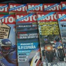 Coches y Motocicletas: MOTOCICLISMO 9 REVISTAS EXTRA DEL AÑO 1985. Lote 27944519