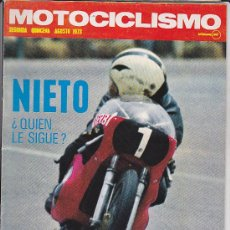 Coches y Motocicletas: REVISTA MOTOCICLISMO AGOSTO 1973 PRUEBA HARLEY DAVIDSON SS-350. Lote 28009051