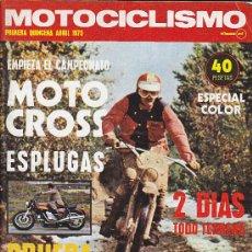 Coches y Motocicletas: REVISTA MOTOCICLISMO ABRIL 75 PRUEBA DUCATI 860. Lote 28009281