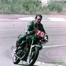 Coches y Motocicletas: FOTOGRAFIA ORIGINAL. MOTO Nº70. TRIGO. MOTOCICLISMO.20 X 25 CM.. Lote 28048826