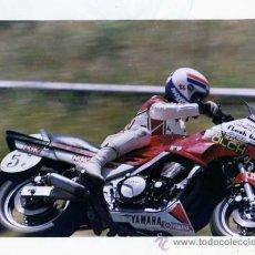 Coches y Motocicletas: FOTOGRAFIA ORIGINAL. MOTO YAMAHA. BANCO GARGIA NOGUEZ. Nº 53. MOTOCICLISMO.20 X 25 CM. .. Lote 28049021
