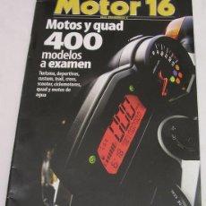 Coches y Motocicletas: CATALOGO MOTOS Y QUAD - 400 MODELOS A EXAMEN - MOTOR 16 Nº 95 - 2006 - . Lote 28060671