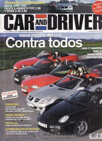 Coches y Motocicletas: REVISTA CAR AND DRIVER Nº 114 AÑO 2005. COMPARATIVA: JAGUAR XKR Y CORVETTE C6. VOLVO S40 2.0D SUMMUN - Foto 1 - 28237610