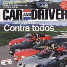 Coches y Motocicletas: REVISTA CAR AND DRIVER Nº 114 AÑO 2005. COMPARATIVA: JAGUAR XKR Y CORVETTE C6. VOLVO S40 2.0D SUMMUN. Lote 28237610