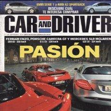 Coches y Motocicletas: REVISTA CAR AND DRIVER Nº 108 AÑO 2004. COMPARATIV: AUDI A3 SPORTBACK Y BMW SERIE 1. COMPARATIVA: OP. Lote 28237659