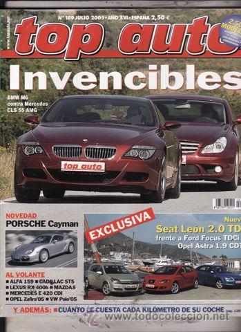 REVISTA TOP AUTO Nº 189 AÑO 2005. PRU: JAGUAR XKR CABRIO FINAL EDITION. VOLVO XC90 V8. COMP: BMW M6 (Coches y Motocicletas - Revistas de Motos y Motocicletas)