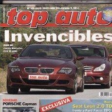 Coches y Motocicletas: REVISTA TOP AUTO Nº 189 AÑO 2005. PRU: JAGUAR XKR CABRIO FINAL EDITION. VOLVO XC90 V8. COMP: BMW M6. Lote 28237882