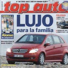 Coches y Motocicletas: REVISTA TOP AUTO Nº 188 AÑO 2005. PRUEBA: LEXUS GS 300.KIA CERATO 1.5 CRDI.VOLVO S40 1.6D.BMW 320I.. Lote 28237917