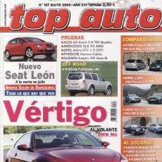 Coches y Motocicletas: REVISTA TOP AUTO Nº 187 AÑO 2005. PRU: PORSCHE CARRERA CABRIO. AUDI A6 AVANT 3.0 TDI QUATTRO.BMW M5.. Lote 28237948