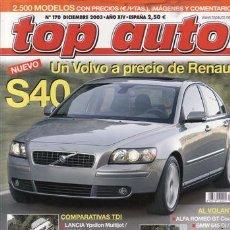 Coches y Motocicletas: REVISTA TOP AUTO Nº 170 AÑO 2003. COMPARATIVA. AUDI TT 3.2 DSG QUATTRO, CHRYSLER CROOFIRE, MAZDA RX8. Lote 28238161