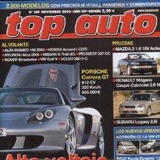 Coches y Motocicletas: REVISTA TOP AUTO Nº 169 AÑO 2003. PRUEBA. RENAULT MEGANE COUPÉ CARIOLET 2.0 16V.MAZDA 3 1.6 ACTIVE+.. Lote 28238192