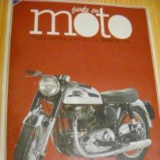 Coches y Motocicletas: GENTE EN MOTO COLECCIONABLE SEMANAL DIARIO 16 Nº7 - HISTORIA: LOS AÑOS DORADOS. Lote 28660042