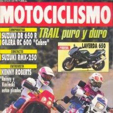 Coches y Motocicletas: MOTOCICLISMO 1275 JUL 1992, SUZUKI DR650R/GILERA RC600/LAVERDA 600/SUZUKI RMX-250/YAMAHA CROSS 93. Lote 29005140
