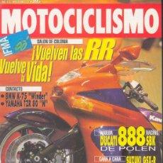 Coches y Motocicletas: MOTOCICLISMO 1285 OCT 1992,BMW K75 WINDER,YAMAHA TZR 80N,DUCATI 888SBK,SUZUKI GSX-R/KAWA ZXR, LAWSON. Lote 29005515