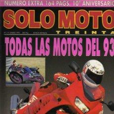 Coches y Motocicletas: REVISTA SOLO MOTO TREINTA - Nº 119 - ENERO 1993. Lote 29182662