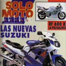 Coches y Motocicletas: REVISTA SOLO MOTO ACTUAL - Nº 849 - 2 SEPTIEMBRE 1992. Lote 29182717