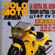 Coches y Motocicletas: REVISTA SOLO MOTO ACTUAL - Nº 868 - 20 ENERO 1993. Lote 29182791