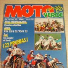 Coches y Motocicletas: REVISTA MOTO VERDE MOTOCICLISMO NUMERO 150 ENERO 1991 ESPECIAL. Lote 29844220