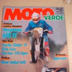 Coches y Motocicletas: REVISTA MOTO VERDE MOTOCICLISMO NUMERO 149 DICIEMBRE 1990 ESPECIAL. Lote 29844225