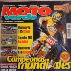 Coches y Motocicletas: REVISTA MOTO VERDE MOTOCICLISMO NUMERO 256 NOVIEMBRE 1999. Lote 155676529