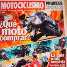 Coches y Motocicletas: REVISTA MOTOCICLISMO CATALOGO PRUEBAS 2003 NUMERO 14. Lote 30408458