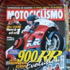 Coches y Motocicletas: REVISTA MOTOCICLISMO Nº 1600 AÑO 1998. HONDA CBR 900 RR. PRUEBA: BMW R 1100 S. PRUEBA: KAWASAKI ZR-. Lote 30581287