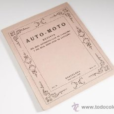 Coches y Motocicletas: REVISTA AUTO-MOTO Nº 13, AÑO II, DEL REAL AUTOMOVIL - MOTO CLUB DE CATALUNYA - BARCELONA AÑO 1919. Lote 30639476
