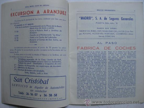 Coches y Motocicletas: REAL MOTO CLUB DE ESPAÑA, BOLETIN INFORMATIVO - AÑO 1959 - Nº 107 - Foto 4 - 30736237