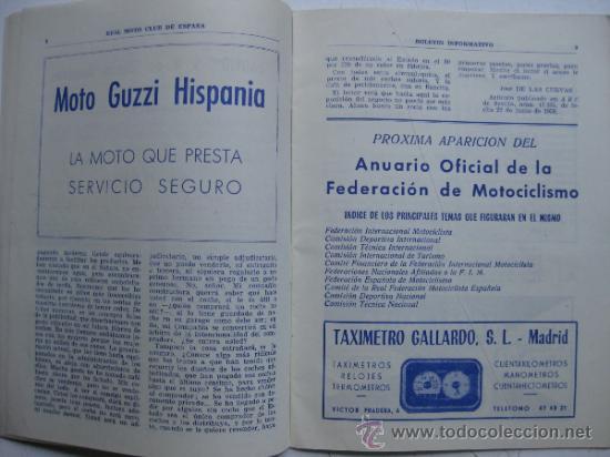Coches y Motocicletas: REAL MOTO CLUB DE ESPAÑA, BOLETIN INFORMATIVO - AÑO 1959 - Nº 107 - Foto 5 - 30736237