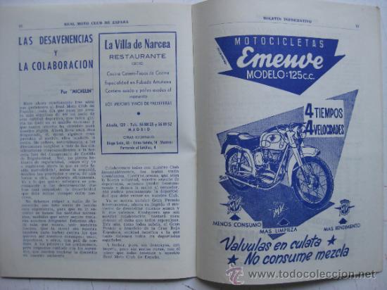 Coches y Motocicletas: REAL MOTO CLUB DE ESPAÑA, BOLETIN INFORMATIVO - AÑO 1959 - Nº 107 - Foto 7 - 30736237