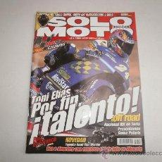 Coches y Motocicletas: REVISTA SOLO MOTO NUM: 1306 HONDA GOLD WIN-YAMAHA CROSS-KYMCO GRAND DINK 250- TRIUMPH TT 600. Lote 30978865