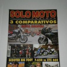 Coches y Motocicletas: SOLO MOTO 30 Nº 145 - KAWASAKI Z 650 / DUCATI 900 SS - MONSTER / BMW R 1100 R / TRIUMPH SPRINT 900. Lote 31403838