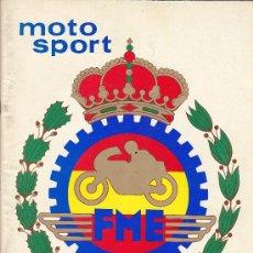 Coches y Motocicletas: REVISTA MOTO SPORT EDITADA POR LA REAL FEDERACION ESPAÑOLA DE MOTOCICLISMO Nº 105. Lote 31861190