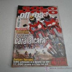 Coches y Motocicletas: REVISTA SOLO MOTO COMPARATIVO HONDA VTR 1000 SP-1 DUCATI 996 BIPOSITO REINAS DEL SBK-CAGIVA RAPTOR-V. Lote 31903253