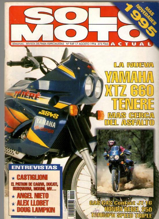 SOLO MOTO ACTUAL Nº 949 (08-1994)* CASTIGLIONI * ANGEL NIETO * ALEX LLOBET * DOUG LAMPKIN (Coches y Motocicletas - Revistas de Motos y Motocicletas)
